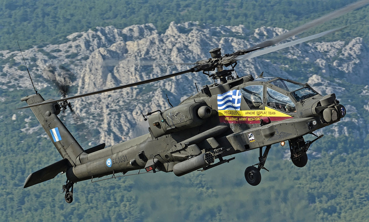 Apache AH-64 of Hellenic Army Just After Lift Off