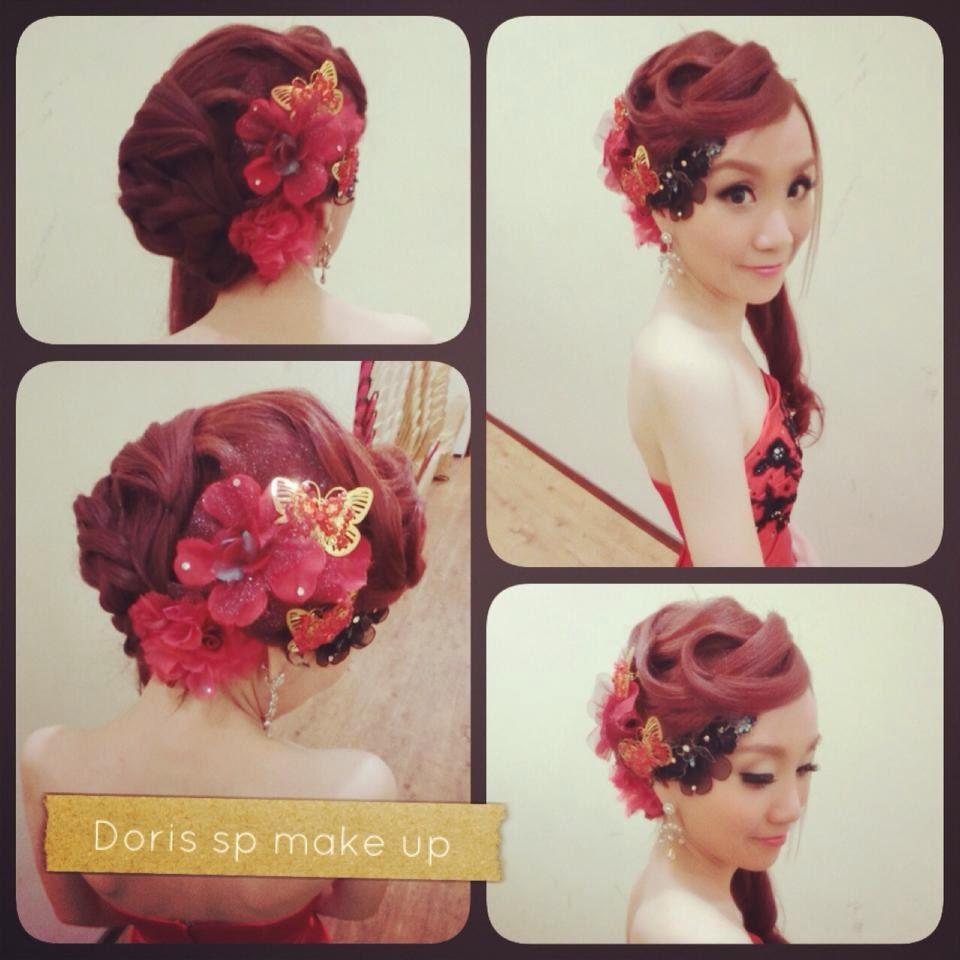 beautiful flowers on hair skinny