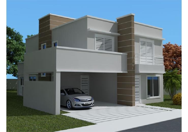 Fachadas para casas pequenas e modernas 40 fotos toda for Modelos de fachadas modernas para casas