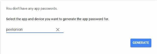 google appname and generate