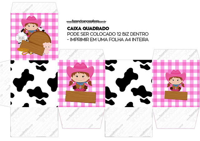 Granjera Morena: Cajas para Imprimir Gratis.