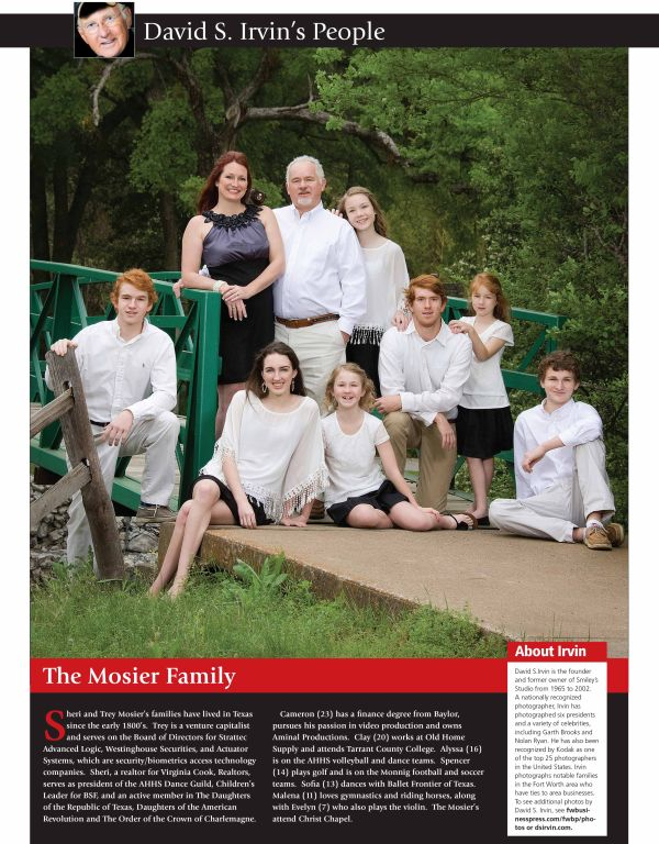 Fort Worth Business Press 2015 The Mosier Family