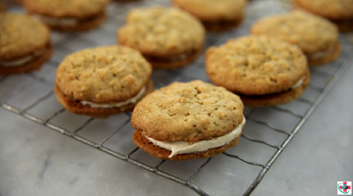 Soft and Chewy Cream Filled Sandwich Cookies