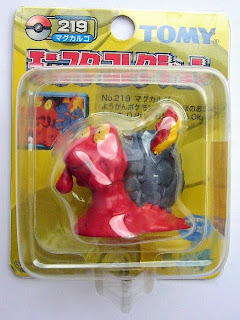 Magcargo Pokemon figure Tomy Monster Collection yellow package series
