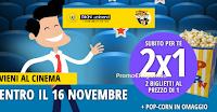 Logo Cinema: promozione 2x1 con pop-corn omaggio