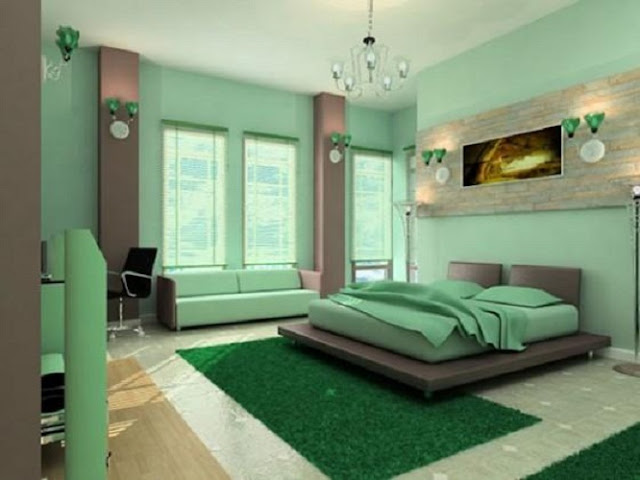 Home Interior Decorating Green Bedroom Color Ideas