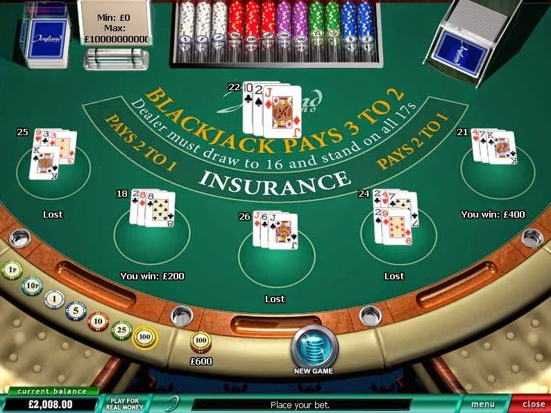 Joyland Casino Blackjack Screen