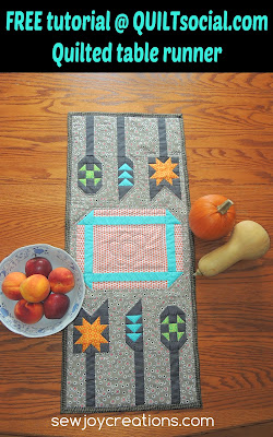 quilted table runner patchwork utensils