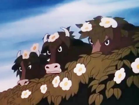 Vacas camufladas en Rebelión en la granja - Cine de Escritor