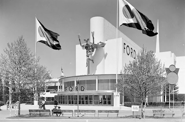 Ford Motor Building entrance, May 12, 1939.