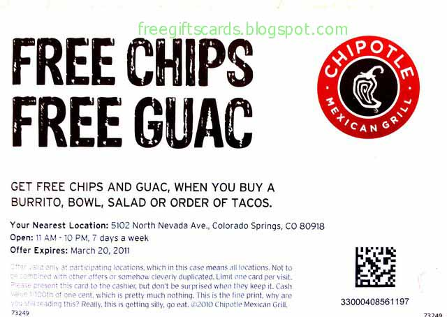 Chipotle Coupon Codes, Printable coupons, and Promo Codes