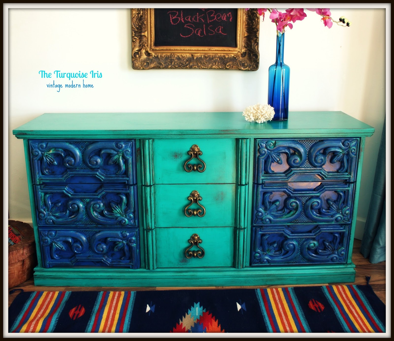 The Turquoise Iris Furniture Amp Art Vintage Dresser In
