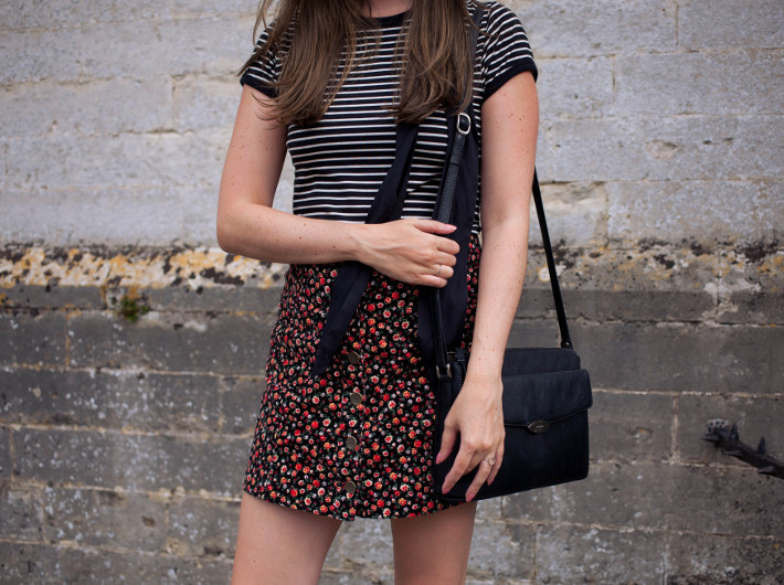 Outfit: stripes, floral