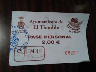 ticket entrada el tiemblo avila