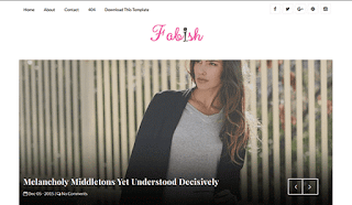 Fabish Slider Blogger Template