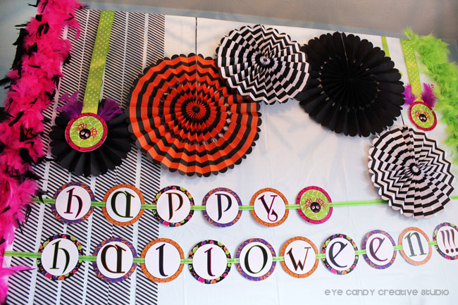 halloween banner, halloween sleepover party ideas, glam halloween