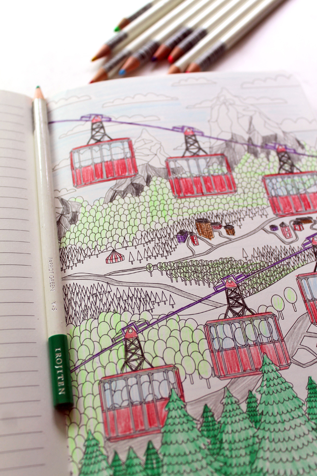 punk projects: Coloring Book Review- The Coloring Notebook