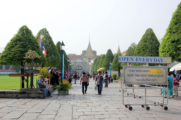 Patio exterior del Palacio Real de Bangkok
