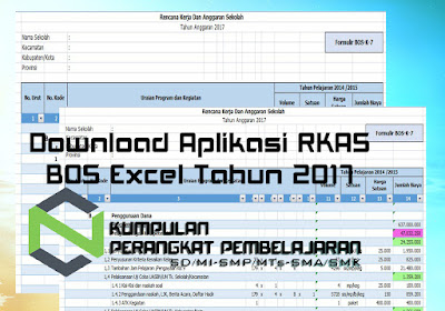 Download Aplikasi RKAS BOS Excel Tahun 2017