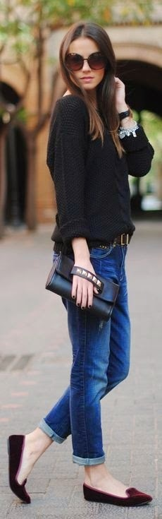 Love that casual chic look for the holiday season.