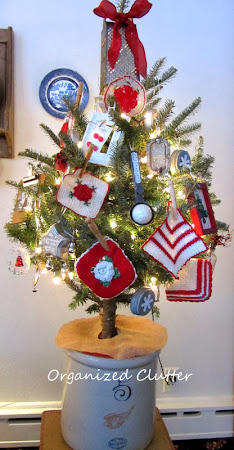 My Re-purposed Ornaments on my Tiny Tree