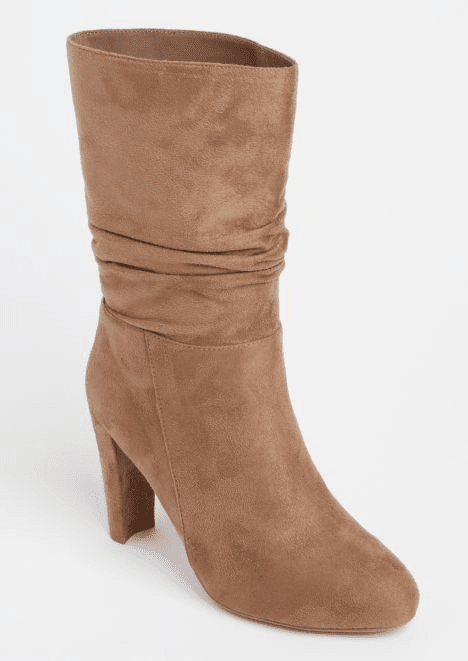 rue21 taupe slouch boots