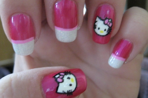 Idea Nails Art Hello Kitty Nails