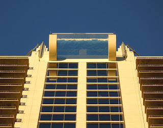 Houston's highest tub, also know as sky pool, at the new luxe Market Square Tower