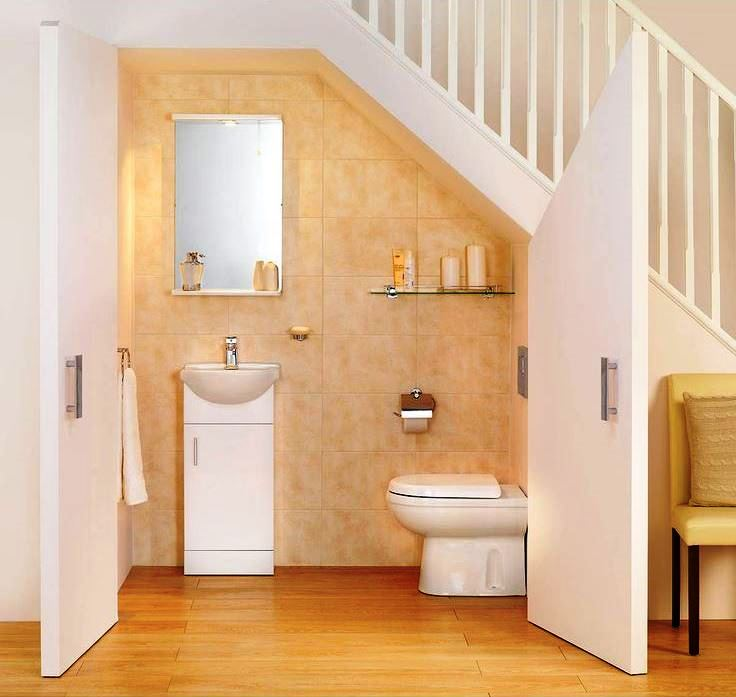 Small bathroom design under stairs under stairs bathroom for Bathroom photos for small bathrooms