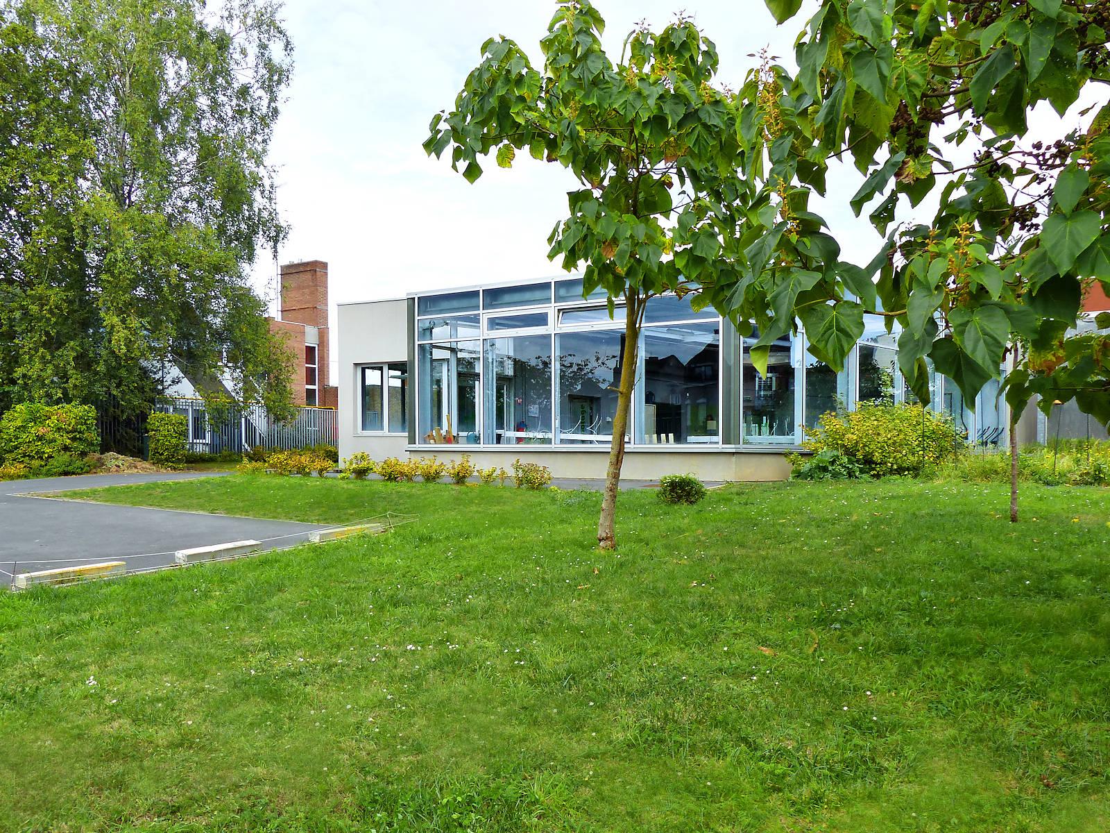 Les serres du collège Marie Curie