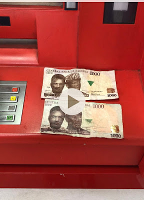 Lady cries out after UBA ATM Dispensed two fake N1k notes to her in Rivers State