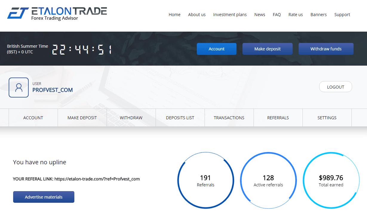 Активность инвесторов в Etalon Trade