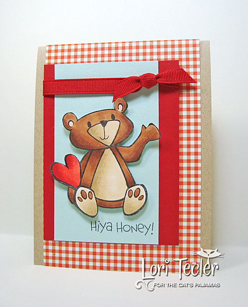 Hiya Honey card-designed by Lori Tecler/Inking Aloud-stamps from The Cat's Pajamas