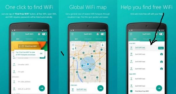 طريقة استخدام تطبيق Swift WiFi لاختراق شبكات الواي فاي