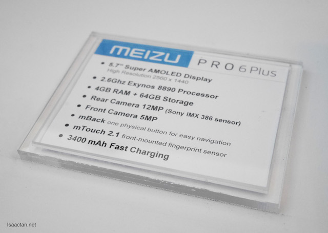 Specs of Meizu Pro 6 Plus