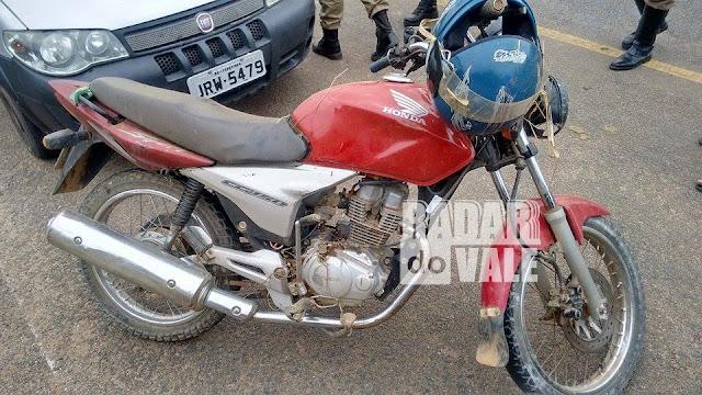 Acidente de moto em Bandeira MG