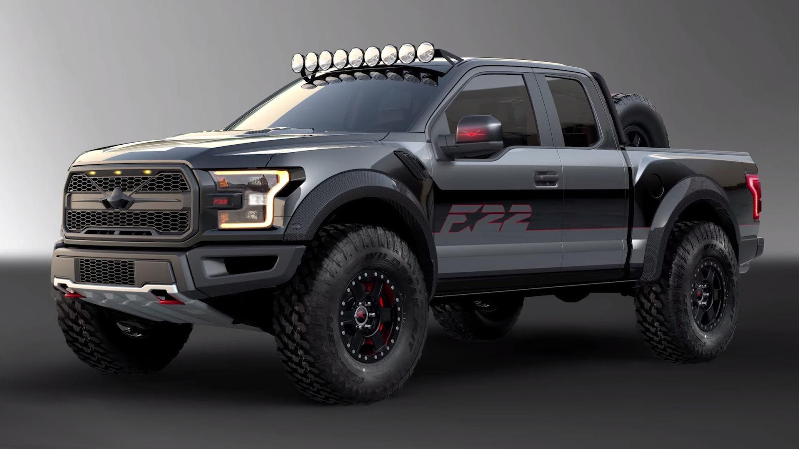 fighter jet inspired ford f 150 raptor boasts 545 hp wilder looks carscoops. Black Bedroom Furniture Sets. Home Design Ideas