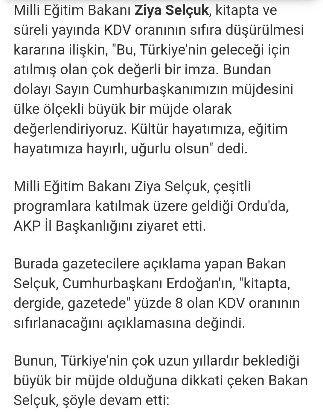 Kdv indirimi 2019 ziya selçuk