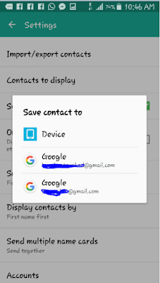 restore all your contacts