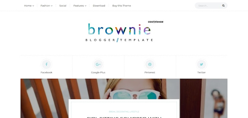 Brownie Free Blogger Template
