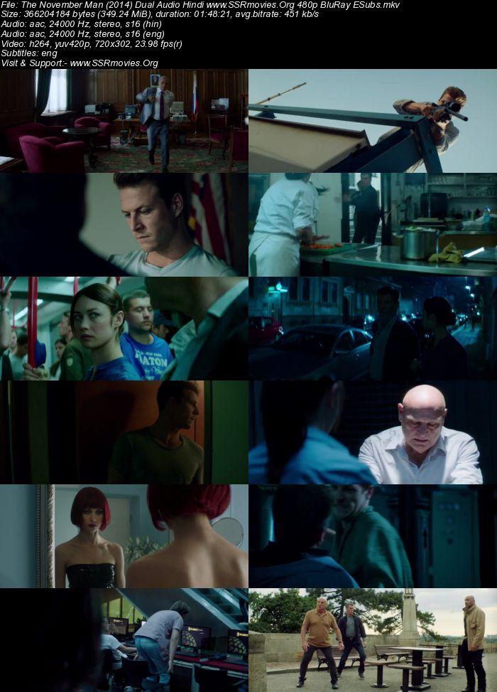 The November Man (2014) Dual Audio Hindi 720p BluRay