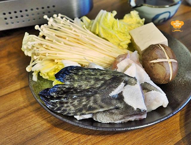 Tansen Izakaya 炭鲜居酒屋 Menu - GROUPER NABE SET - Vegetables, Mushroom