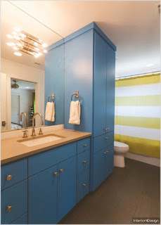 Bathroom remodeling blue