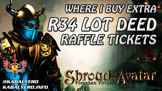 Shroud Of The Avatar Gameplay 2016 ★ Where I Buy Extra R34 Lot Deed Raffle Tickets