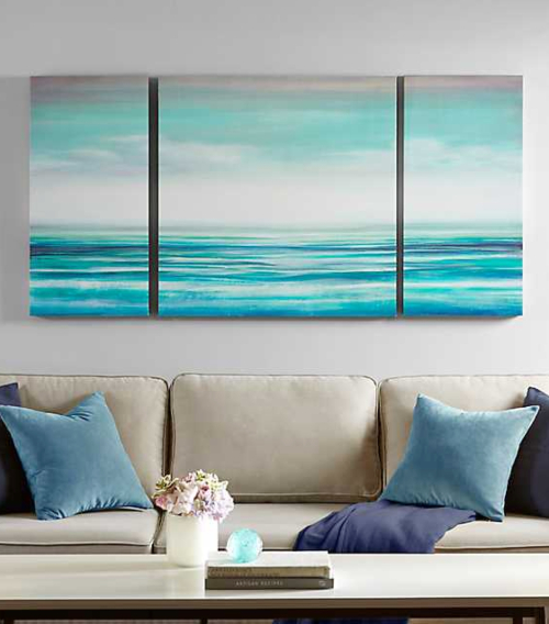 3 Piece Ocean Art Canvas