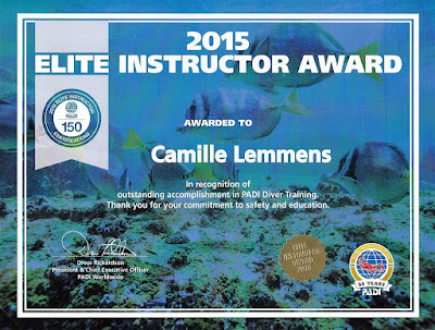 More awards from PADI in May 2016