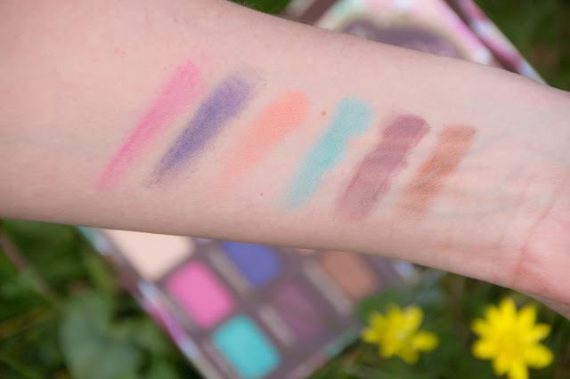swatchs de la palette sugar pop too faced