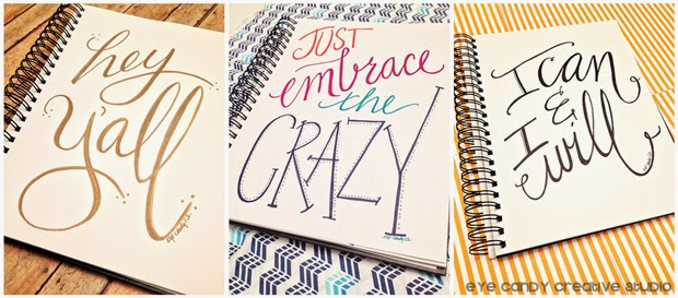 art print, hand lettered, hey y'all, just embrace the crazy, I can & I will