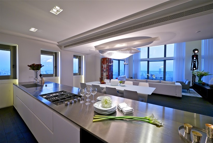 Modern penthouse kitchen