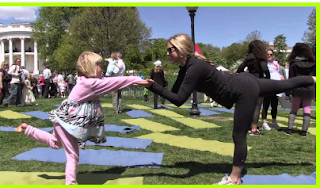 Yoga аnd egg rolls оn White House Easter event menu